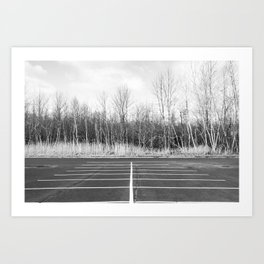 Parking Lot Art Print
