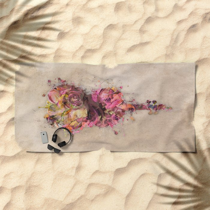 Double bass Beach Towel