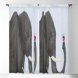 Bertha The Elephant And Her Visitor Blackout Curtain