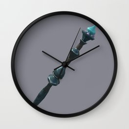 The Lover's Staff Wall Clock