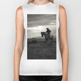 Santa Fe Cowboy on Horse Biker Tank