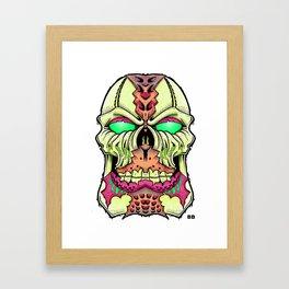 flesh head Framed Art Print