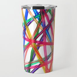 Lines Of Transparency Travel Mug