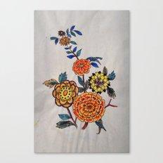 Felt pen floral fun Canvas Print