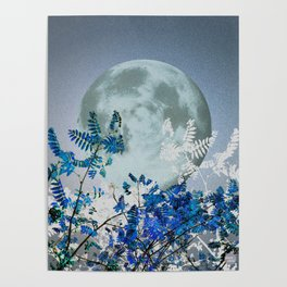 Super Moon v2 - Blue #buyart Poster