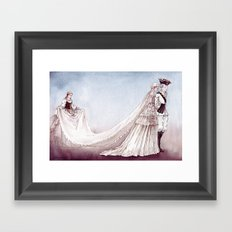 The Royal Wedding - From The Princess and the Pea - By: Hans Christian Andersen Framed Art Print