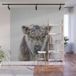 Fluffy Cow - Colorful Wall Mural