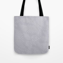 Pantone Lilac Gray Fancy Leaves Scroll Damask Pattern Tote Bag