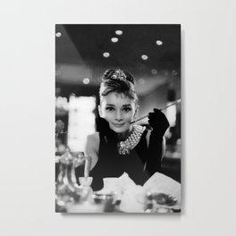 Audrey Hepburn Poster, High Quality Print, Vintage Art Photography, Home Décor Wall Art Fashion Beauty Metal Print