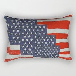 Patriotic Americana Flag Pattern Art Rectangular Pillow