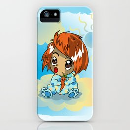 Cute ginger haired baby with a carrot iPhone Case