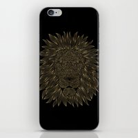 lannister iPhone & iPod Skins featuring lion / black by Anna Grunduls