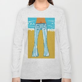 Sexy Blue Jeans Long Sleeve T-shirt