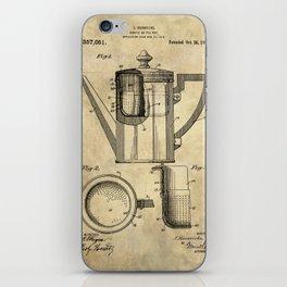 Coffee Pot Blueprint iPhone Skin