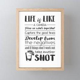 Life is like a camera Framed Mini Art Print