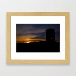 Solomon's temple sunset Framed Art Print