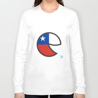chile Long Sleeve T-shirts featuring Chile Smile by onejyoo