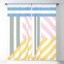 Summer stripes Blackout Curtain