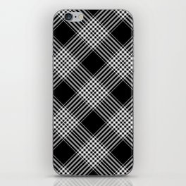 Black And White Tartan Plaid iPhone Skin