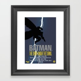 Bat Knight Returns Framed Art Print