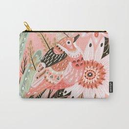 Little Pink Bird Carry-All Pouch
