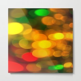 Colorful Bokeh Beautiful light #decor #society6 Metal Print