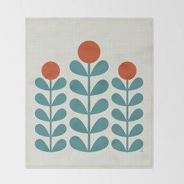 Scan. Flowers  Throw Blanket