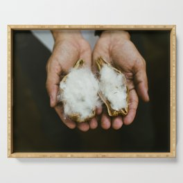 Wild Cotton Serving Tray