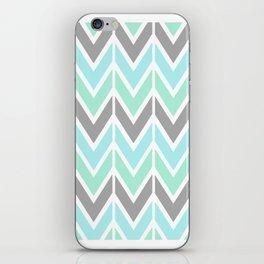 gray & blue navajo iPhone Skin