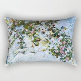 "Claude Monet ""The Rose Bush"" Rectangular Pillow"