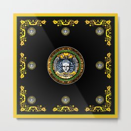 Medusa shield of Charles V Metal Print