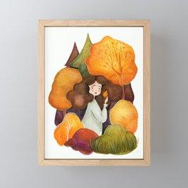Autumn Child Framed Mini Art Print
