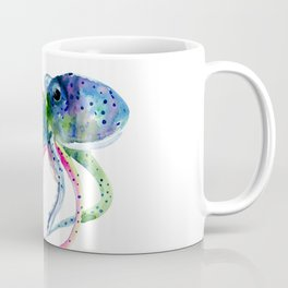 Blue Rainbow Octopus Coffee Mug