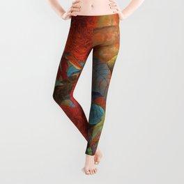 flower3【Japanese painting】 Leggings