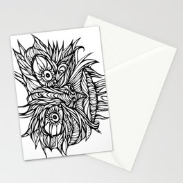 Face Flow Line Stationery Cards