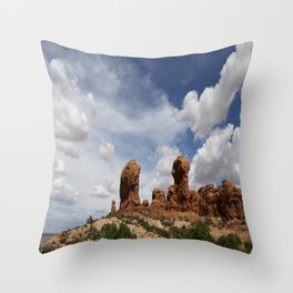 Parade Of the Elephants Throw Pillow