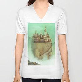 flying castle Unisex V-Neck