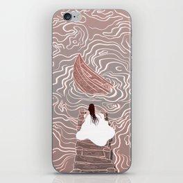 Sinking boat iPhone Skin