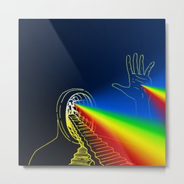 The Left Hand of Darkness (Sanslucence)  Metal Print
