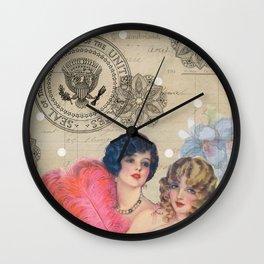 The 1920's Girls Wall Clock
