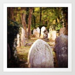 Highgate Cemetery Art Print