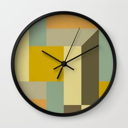 Retro Geometry IV Wall Clock