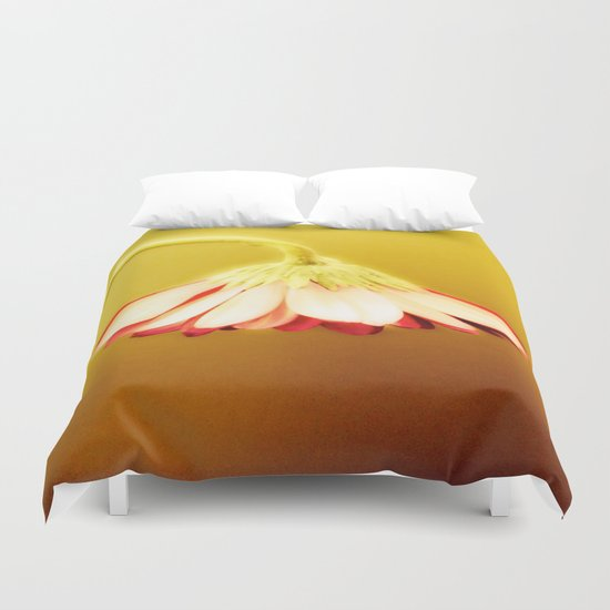 Flower | Flowers | Glowing Yellow Drooping Flower Duvet Cover