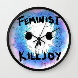 Floral Killjoy Wall Clock