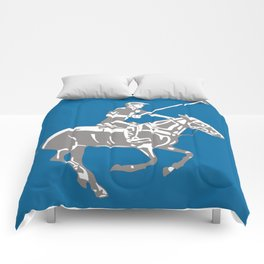 Polo pony and rider Comforters