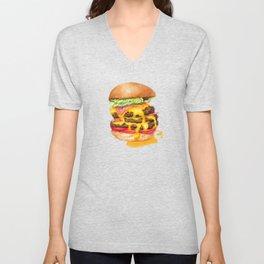 Juicy Cheeseburger Unisex V-Neck