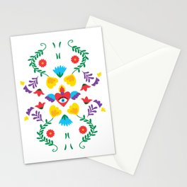 Mexican Otomi Embroidery Folk Art Sacred Heart Evil Eye Stationery Cards