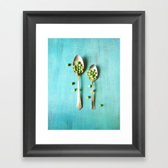 Give Peas a Chance Framed Art Print