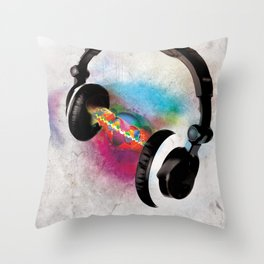feeling sound Throw Pillow