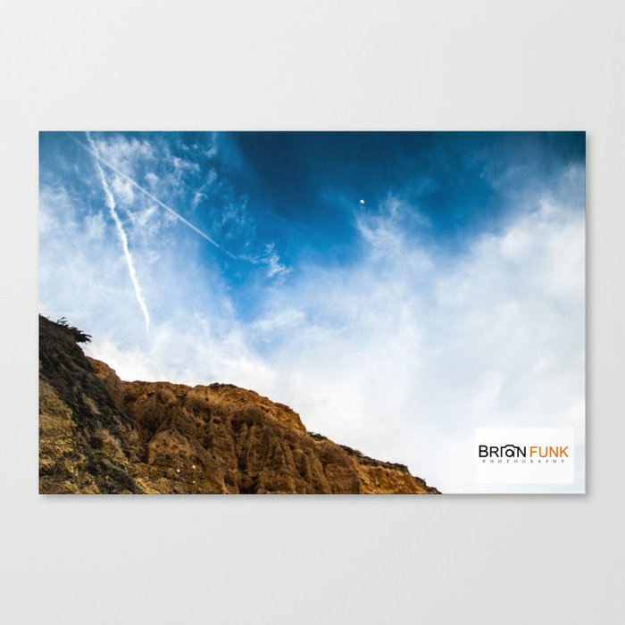 Blue Sky Rock Canvas Print